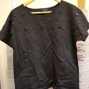 J Crew Embellished Shirt